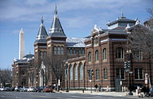 Picture shows the Arts and Industries Building in Washington D.C.